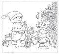 bobbi kerst kleurplaat 1