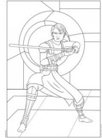 Kleurplaat Anakin Skywalker Starwars
