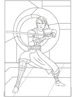 Kleurplaat Star Wars Anakin Skywalker Coolesuggesties