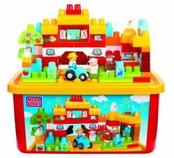 0010095 mega bloks first builders large tub town farm 06626
