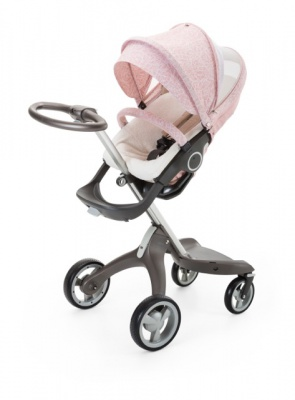 Stokke Stroller Summer Kit Scribble Faded Pink with Xplory chassis 141022 9695