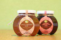oil vinegar cherry chocolate jam en apple caramel jam