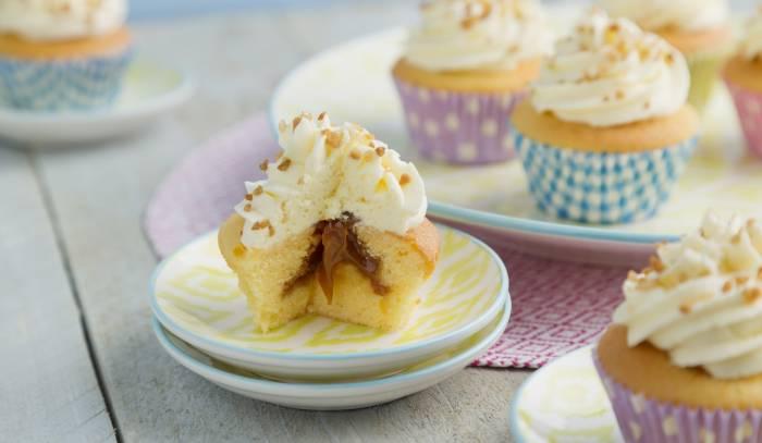 recipe cupcakes met salted cararmel vulling