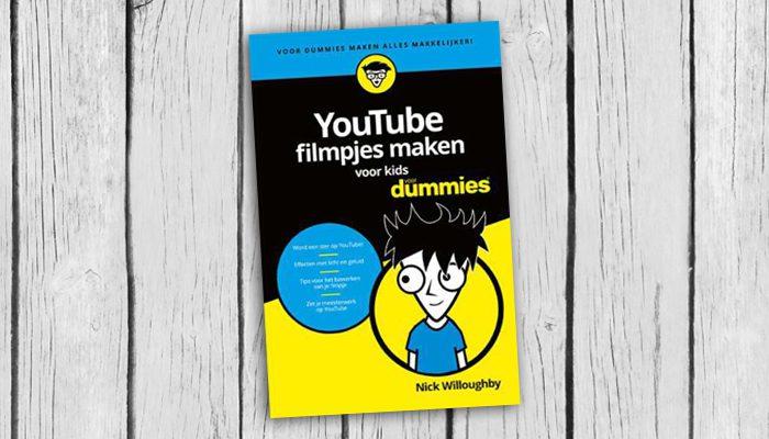 youtube filmpjes maken voor kids voor dummies nick willoughby boek cover 9789045351858