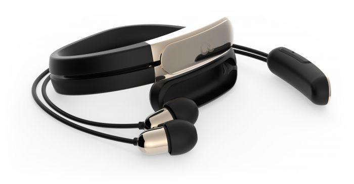 ashley chloe wireless headset black gold