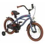 2cycle jongensfiets 16 inch cruiser mat blauw 16291