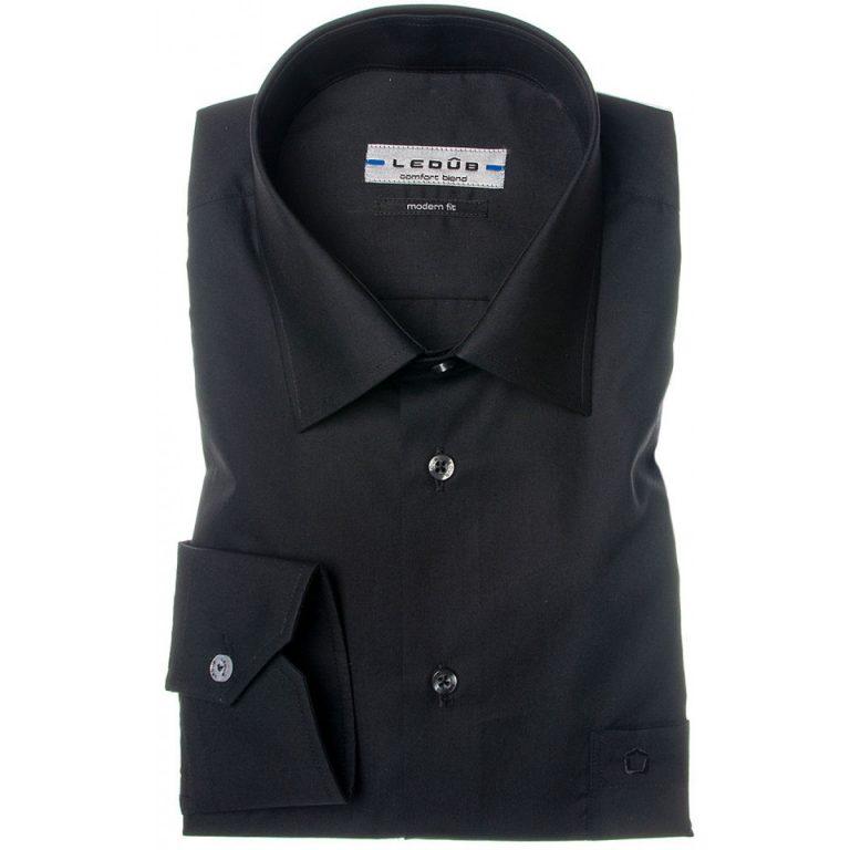zwart overhemd ledub