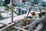 bouwen constructie bouwplaats