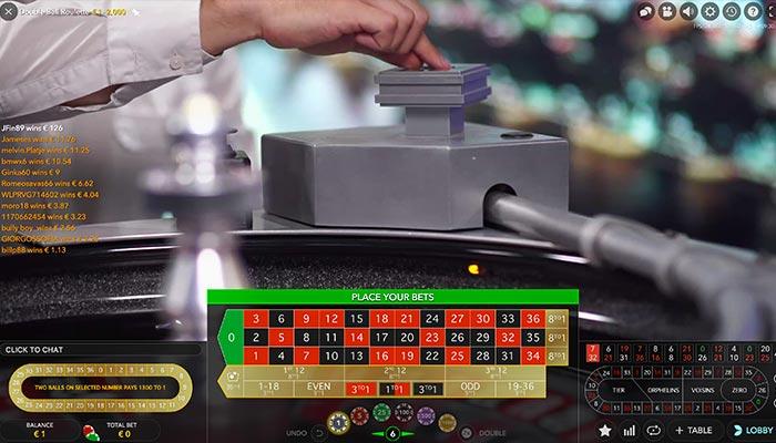 machine double ball roulette