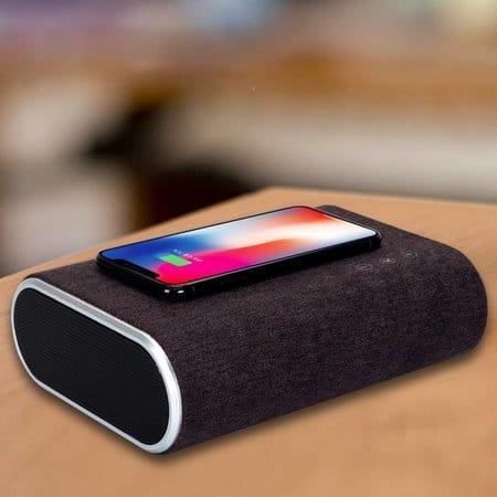 f176 bluetooth speaker met qi draadloze oplaadfunc