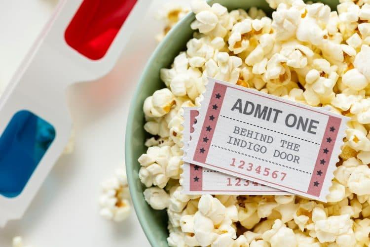 bioscoop filmkaartje popcorn 3D