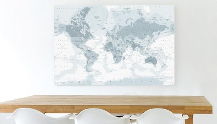 Review: Wereldkaart op canvas