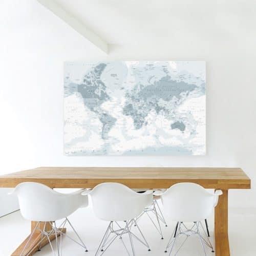 wereldkaarten grijstinten