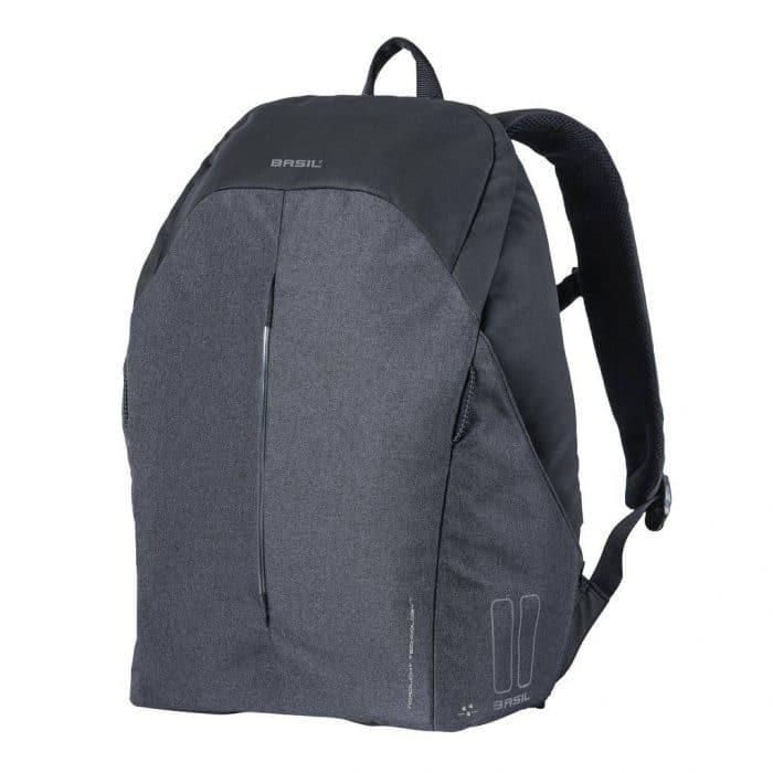 basil b safe backpack nordlicht fietsrugzak zwart