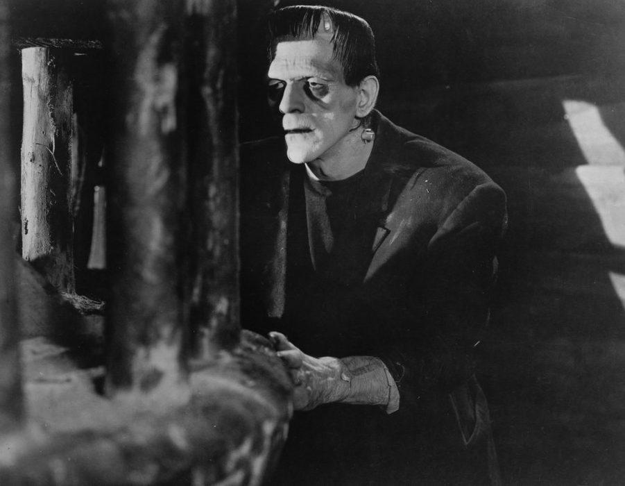 Het iconisch geworden Monster van Frankenstein uit de film Frankenstein uit 1931