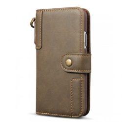 mobigear retro cowhide bookcase hoesje koffie apple iphone 11 pro d78