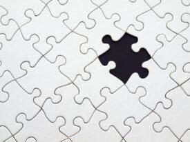 zoekgeraakt puzzelstukje