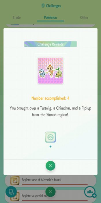 Pokemon Home Challenges