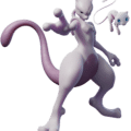 Pokemon Mewtwo Strikes Back Evolution CHARACTER ART MEW MEWTWO