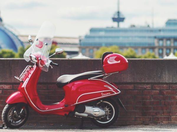 scooter landschap