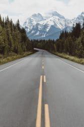 weg uitzicht bergen vrijheid