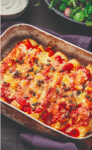 Enchilada met wortel en kip