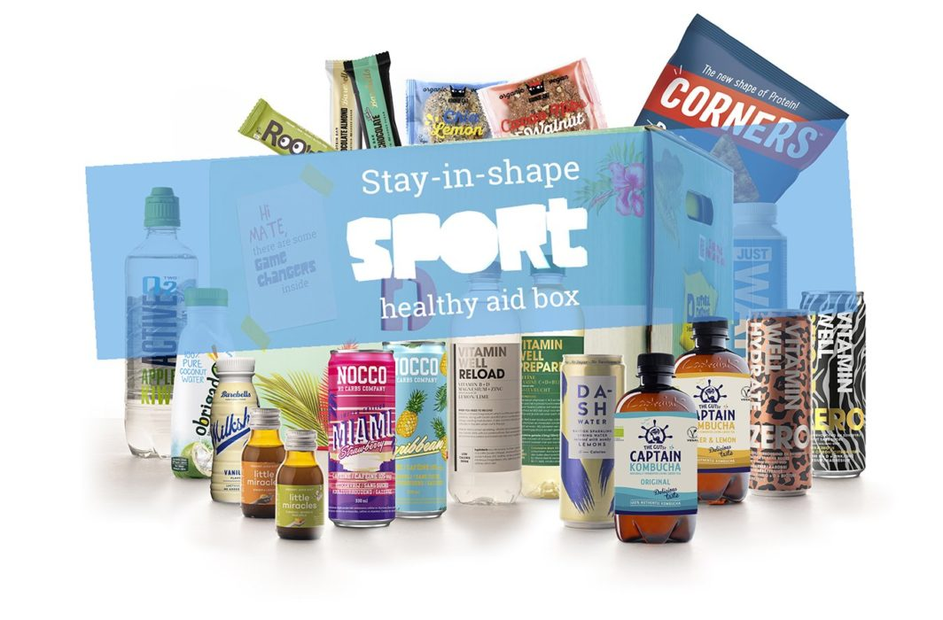 stay in shape healthy aid box