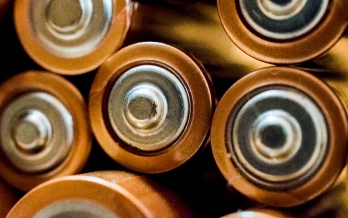 batterijen close up