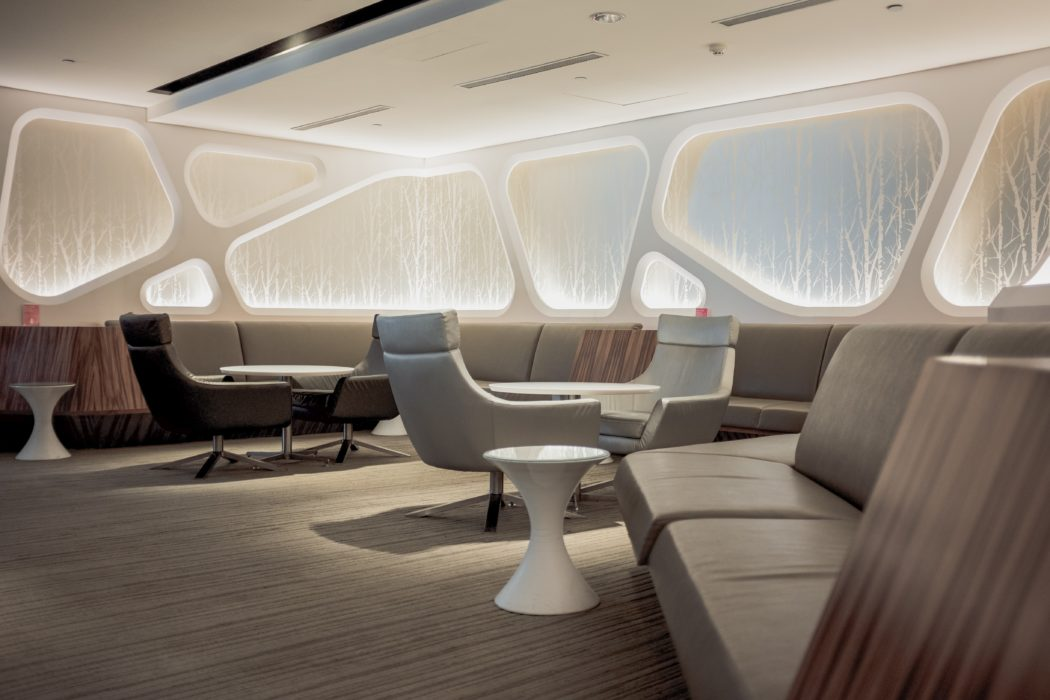 loungebank futuristisch