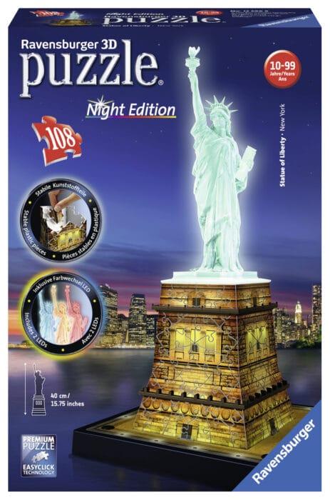 3D Puzzel Vrijheidsbeeld Night Edition