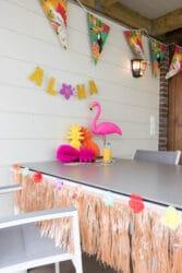 decoratie staycation vakantie thema Hawaii 6 van 10