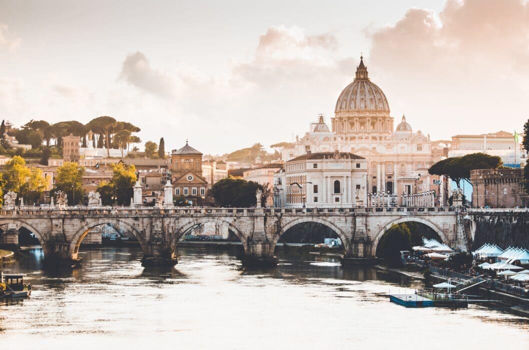 Staycation: vakantie thuis thema Italië - skyline