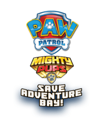 logo paw patrol mighty pups save adventure bay