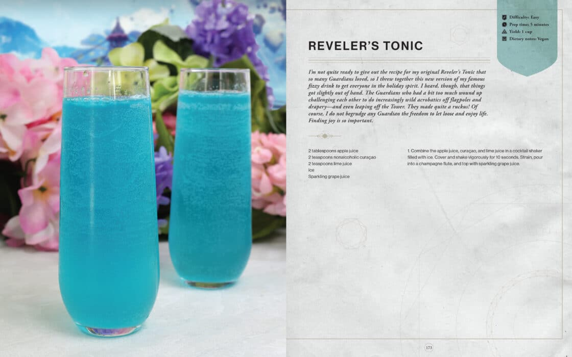Destiny the official cookbook revelers tonic