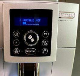 delonghi espresso display