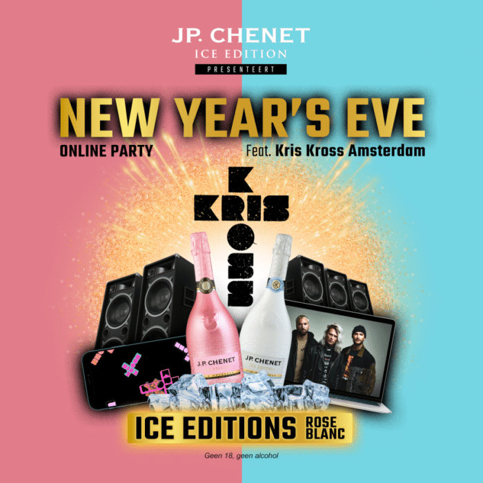 JP Chenet Kris Kross Amsterdam NEw Years Eve Online party