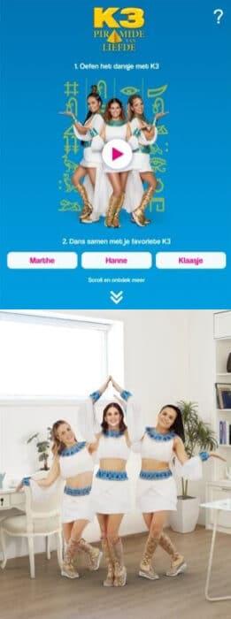 K3 Piramide van liefde app 3