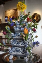 Muiderslot bloemen in vaas