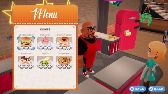 My Universe Cooking Star Restaurant menu
