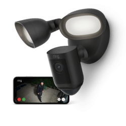 Phone Ring Floodlight Cam Wired Pro Black