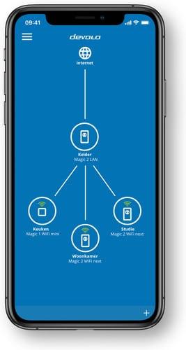 devolo magic 2 multiroom mesh powerline app