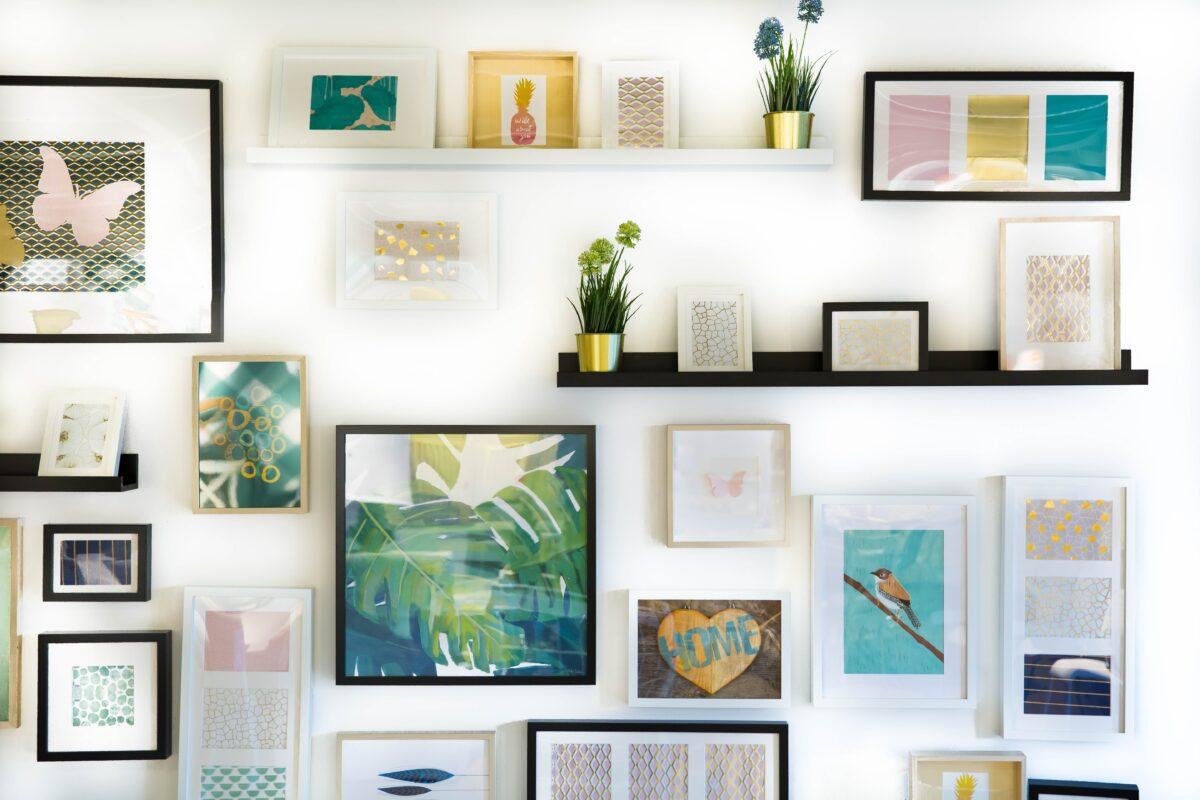 muur schilderij fotolijst collage