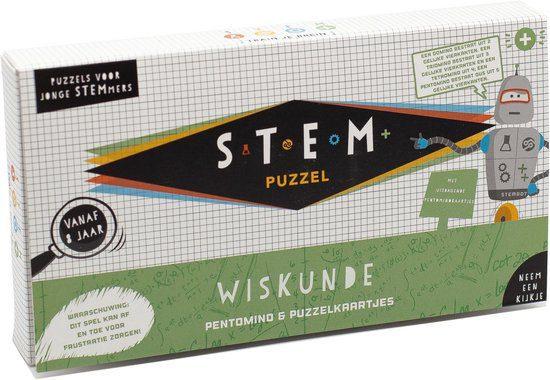 Stem Puzzel wiskunde pentomino puzzelkaartjes