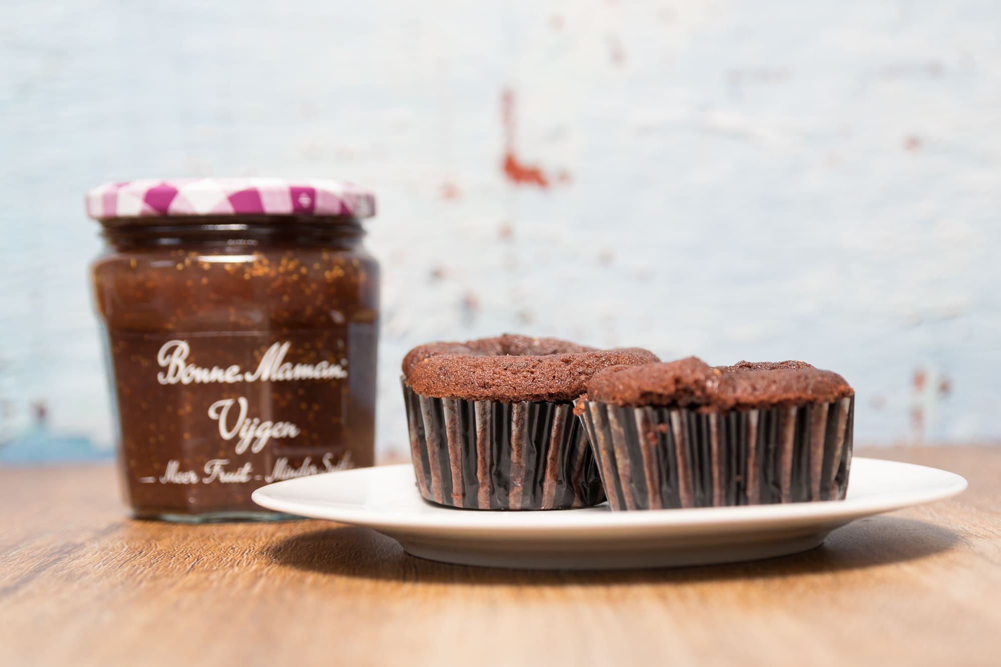 Snelle fruitige chocolade cupcakes