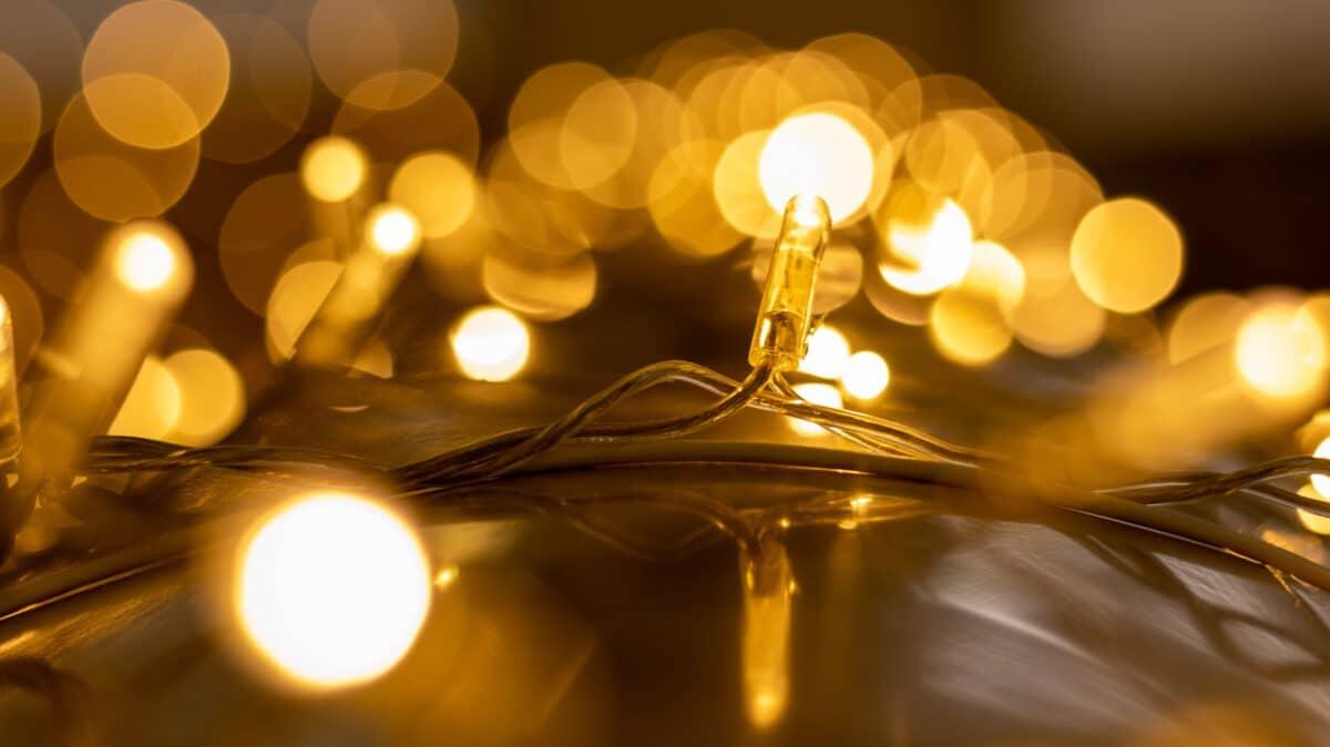 kerstlampjes in interieur