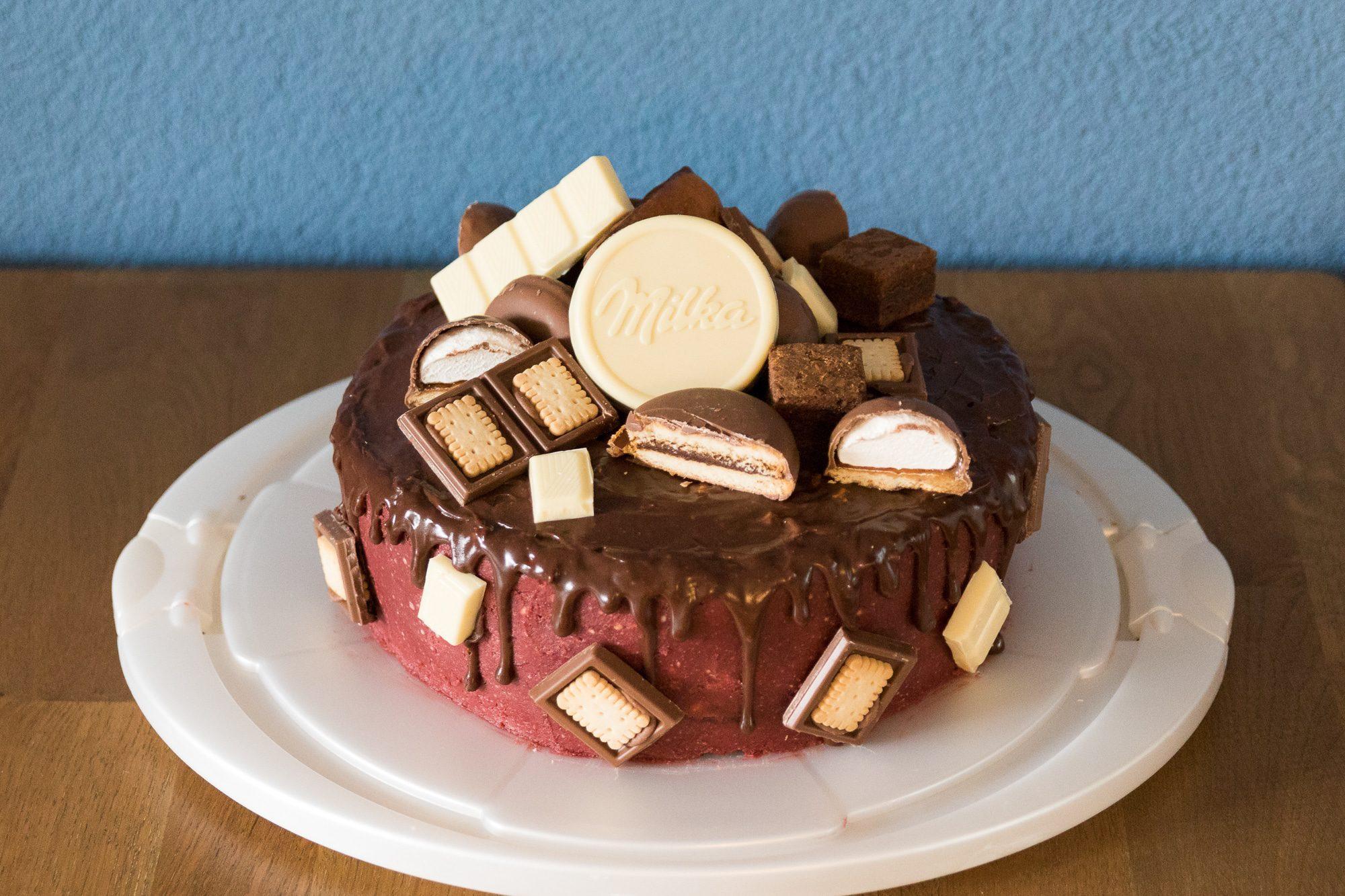 Ultieme Milka chocoladetaart