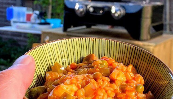 paella op de barbecue