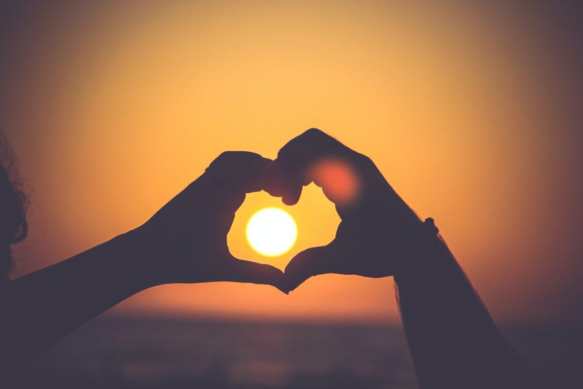 Relatie tips zonsondergang hart