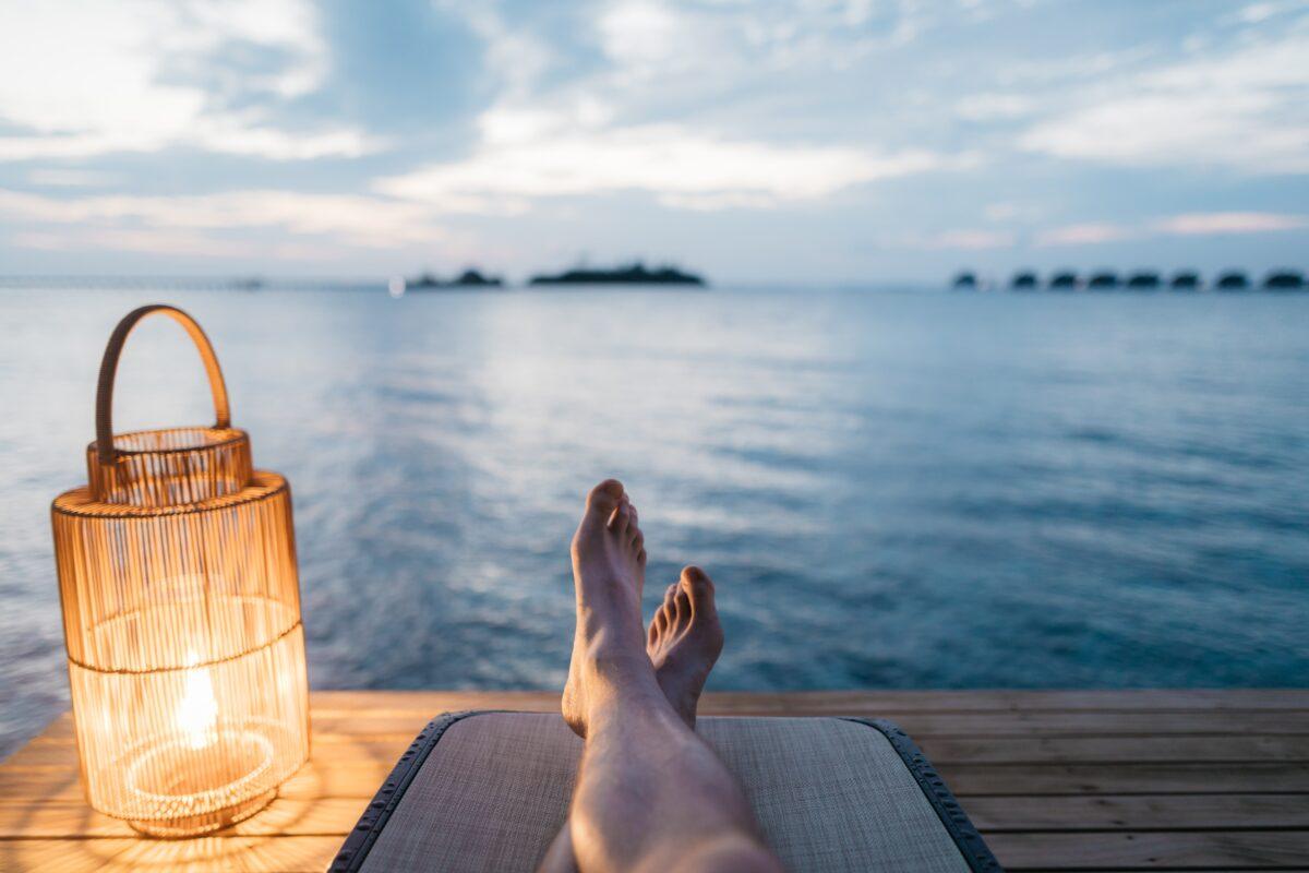 ontspannen zee water