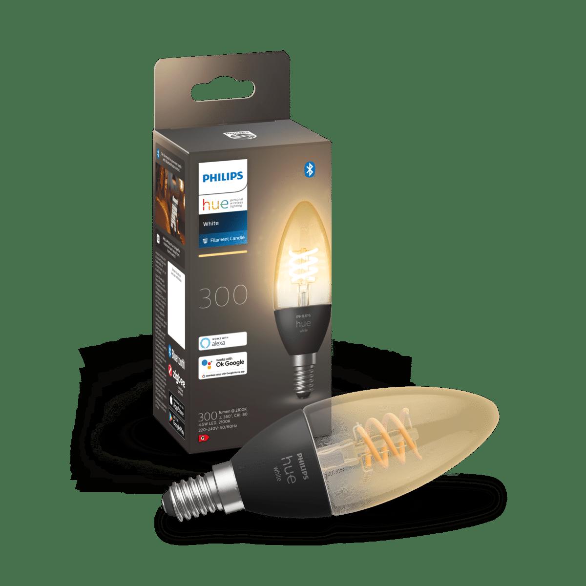 Philips Hue White Filament E14 candle bulb product